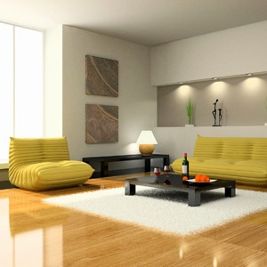 Modern living room home improvement